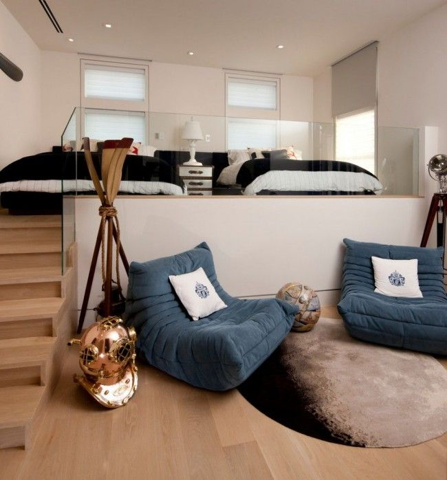 Open layout livign room with the sleeping in Casual styled condo