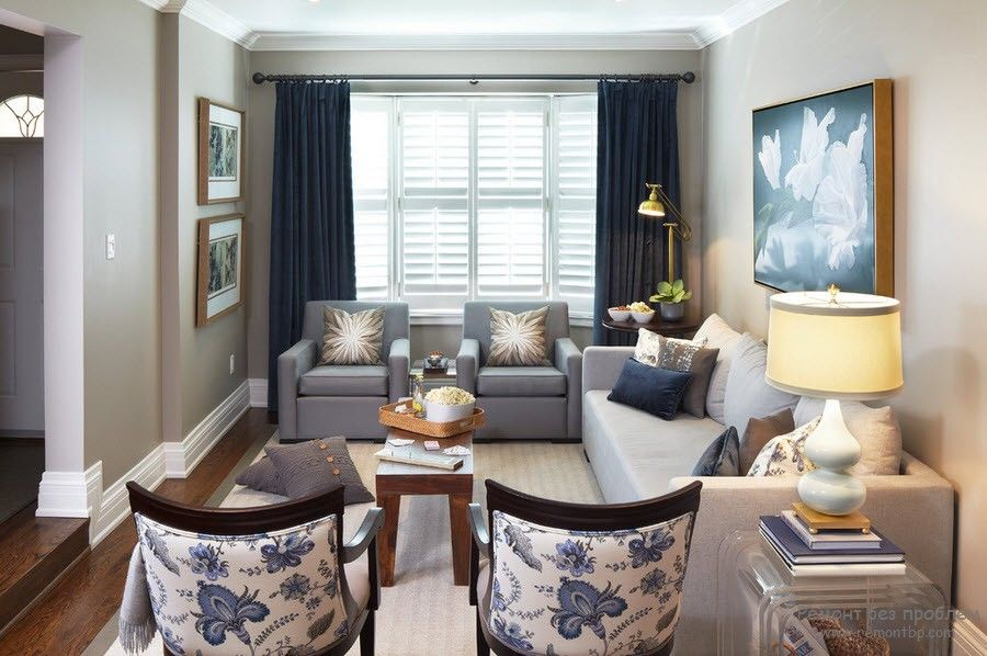 10+ Most Effective Ways of Increasing Interior Space. Contrasting curtains with walls draw attention