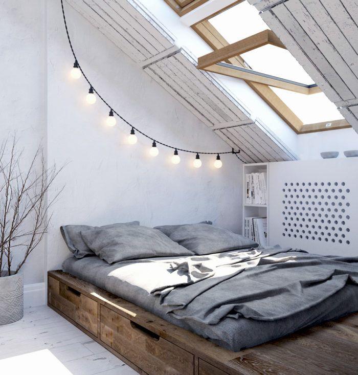Loft and Scandinavian styles symbiosis in light spacious interior