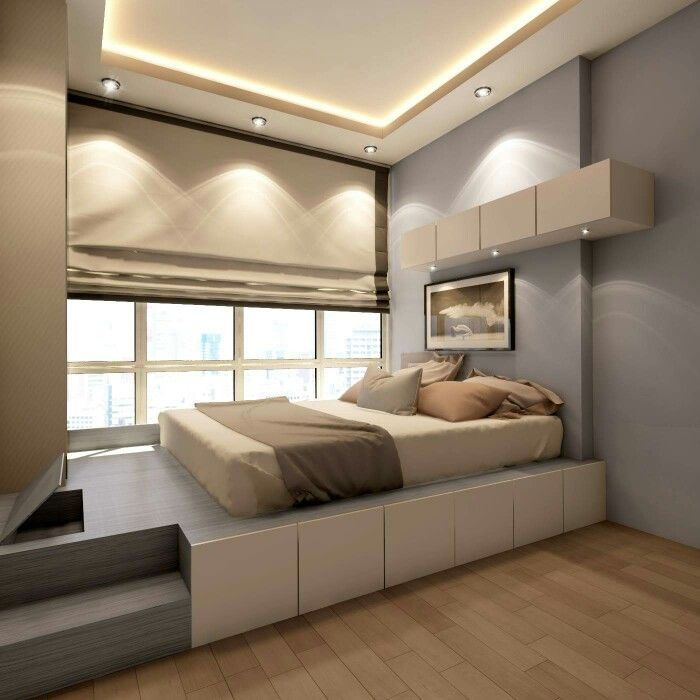Podium Bed Luxury Or Functional Interior Element Small