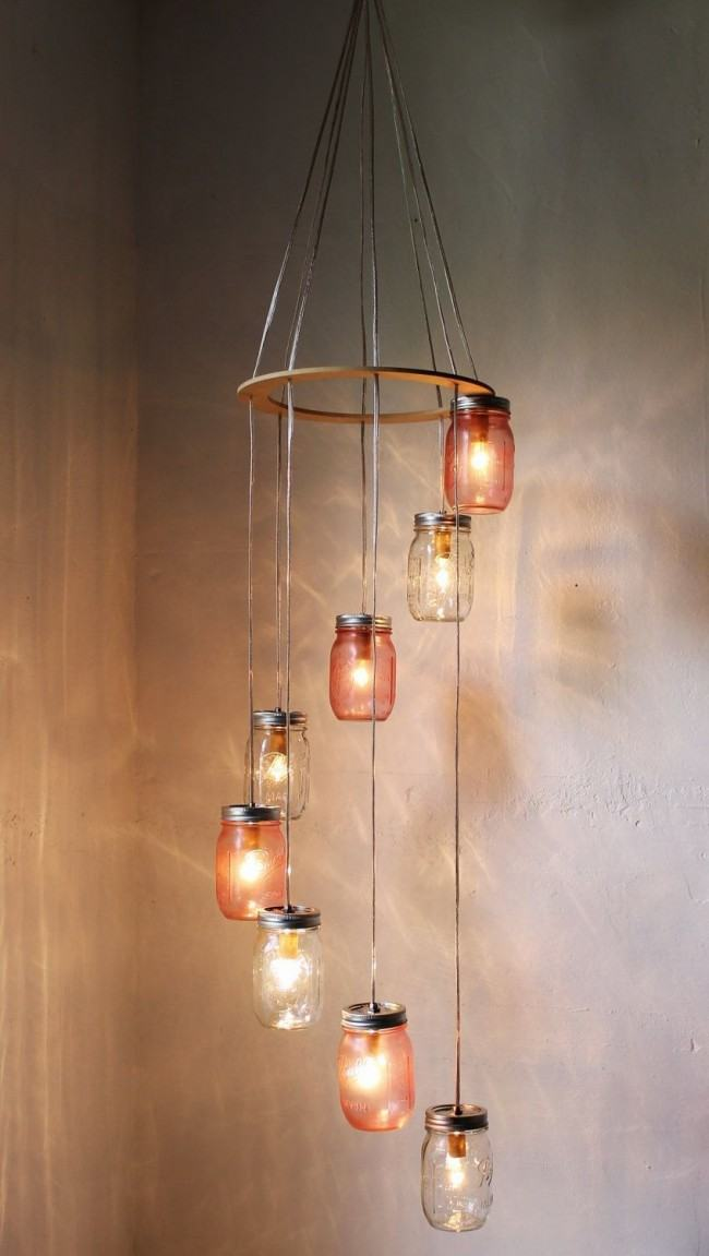DIY crafted lamps of glasses