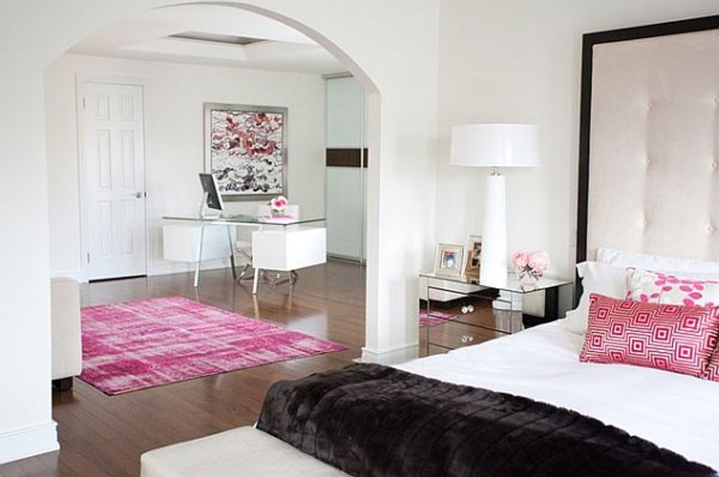 Pink Color for Modern Romantic Interior Designs. Just a couple of additional touches of pink to revive the atmosphere
