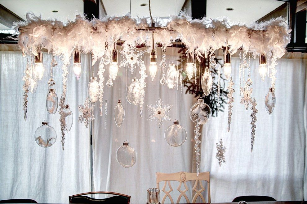 How to Decorate your Home with DIY Creative Elements. Feathers' canopy as the framing of the festive table