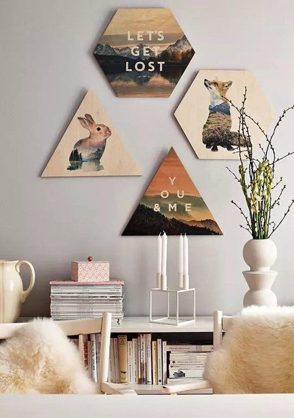 How to Decorate your Home with DIY Creative Elements. Yesterday's pictures from books and journals can turn to drawings on the wall