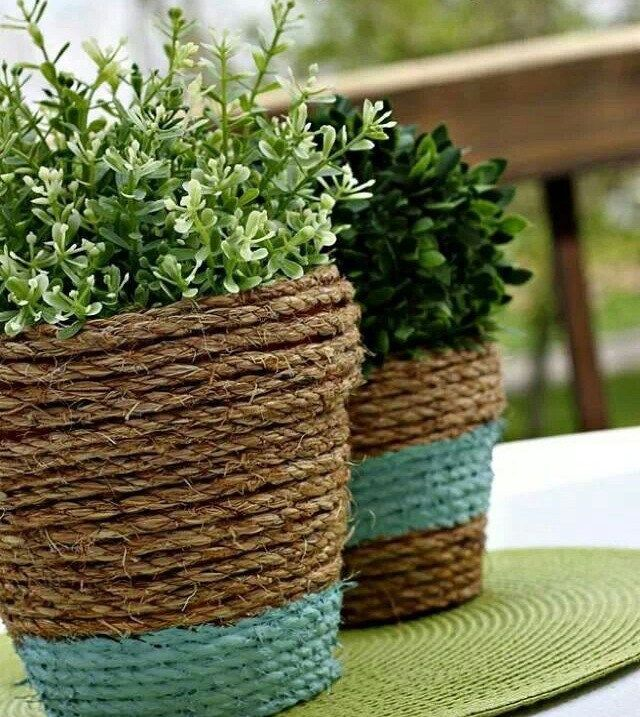 How to Decorate your Home with DIY Creative Elements. Twine wraped vase