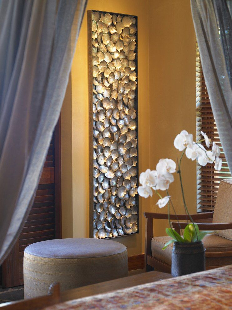 How to Decorate your Home with DIY Creative Elements. Pebble panel in the Classic interior