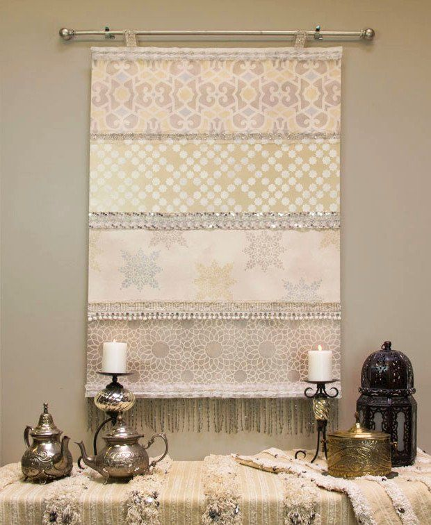 How to Decorate your Home with DIY Creative Elements. Interior window curtain by hand