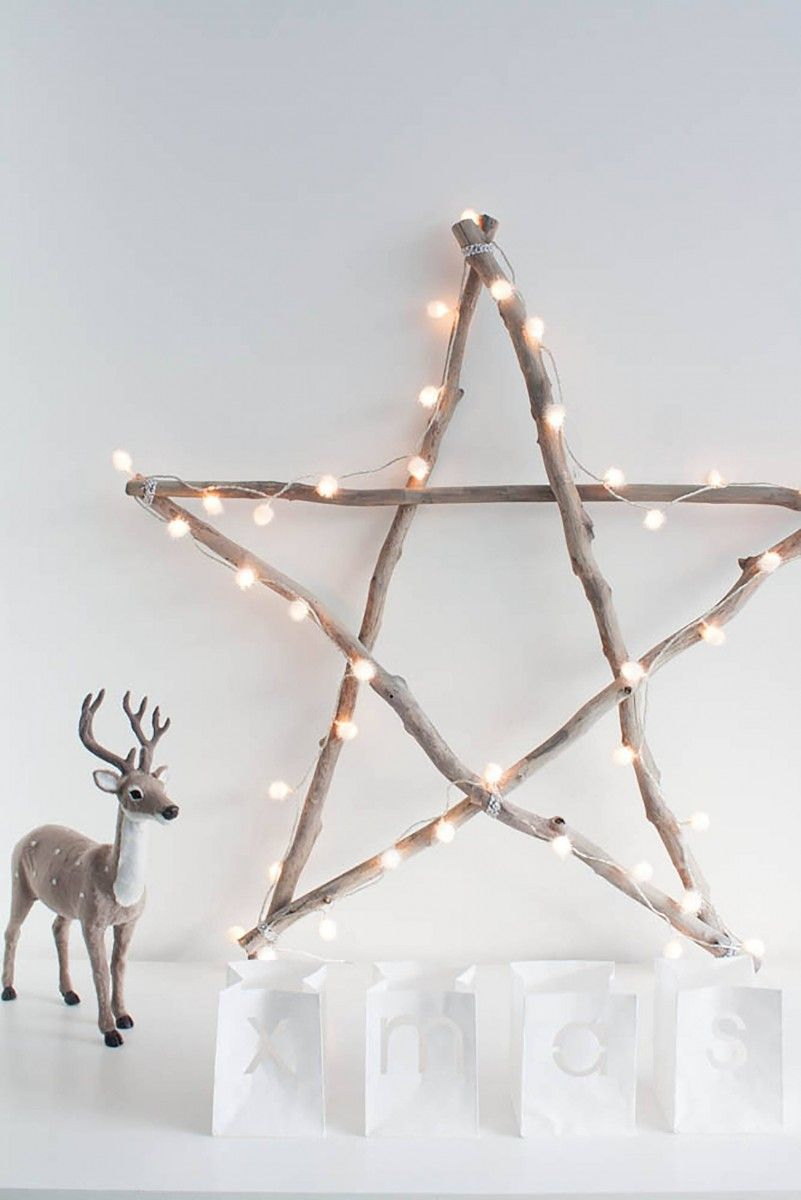 The mere star glued of twigs can also be nice decorative element