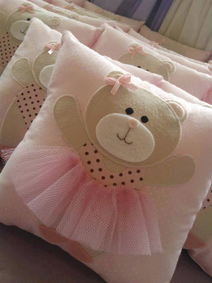 Pillow decorated with teddy-bear