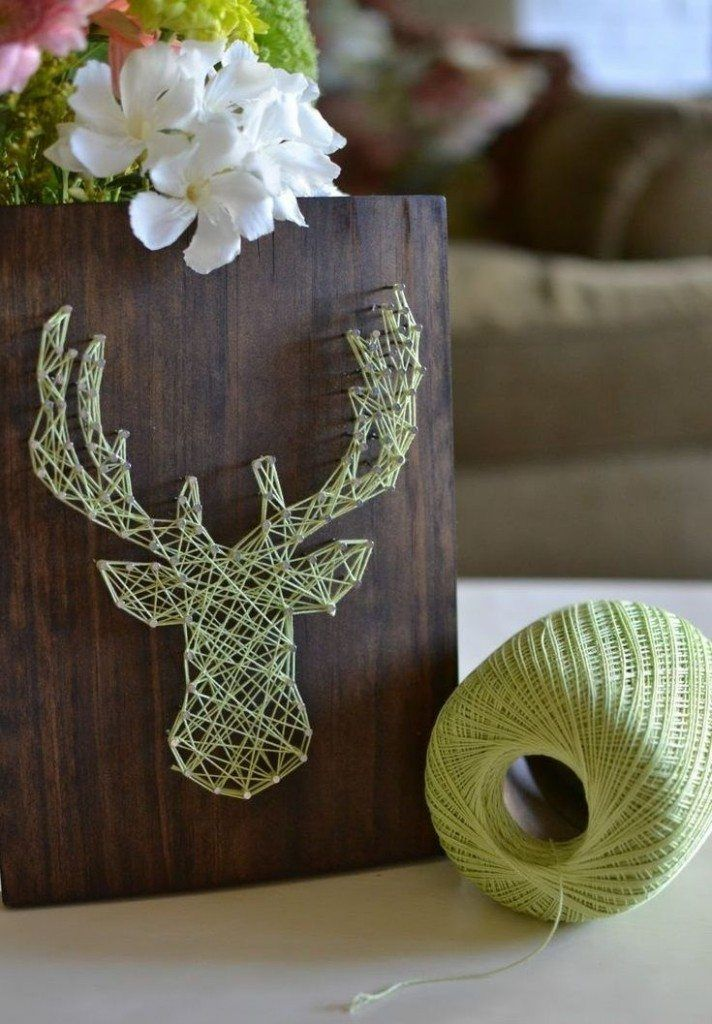 How to Decorate your Home with DIY Creative Elements. The antlers by the mere rope