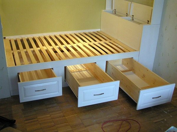 The scheme of installing the podium bed