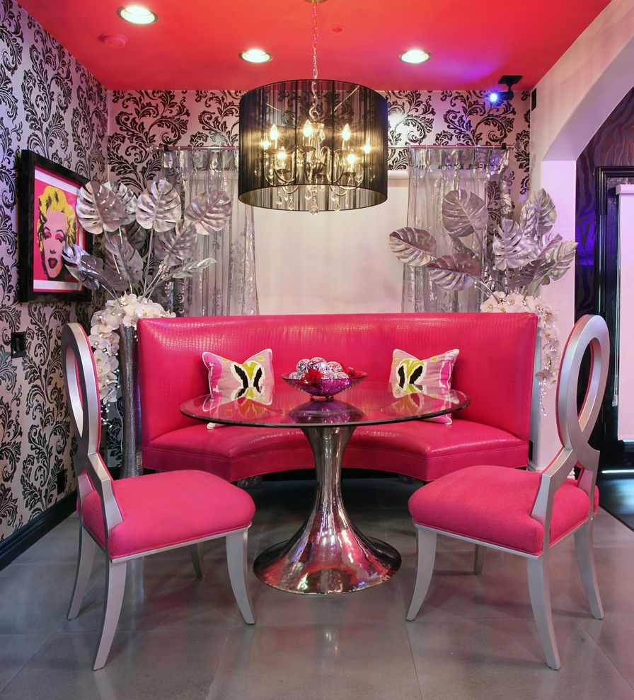 Pink Color for Modern Romantic Interior Designs. Futuristic style can also be relevant in this color