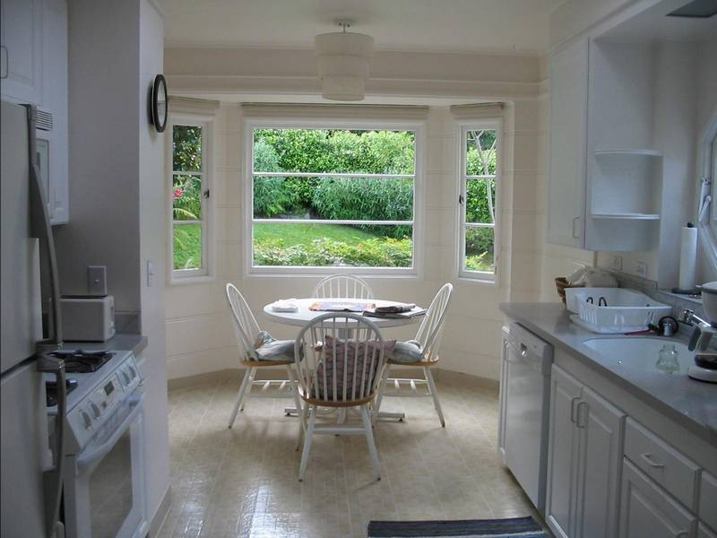 White American classic style at the kitchen with bay window