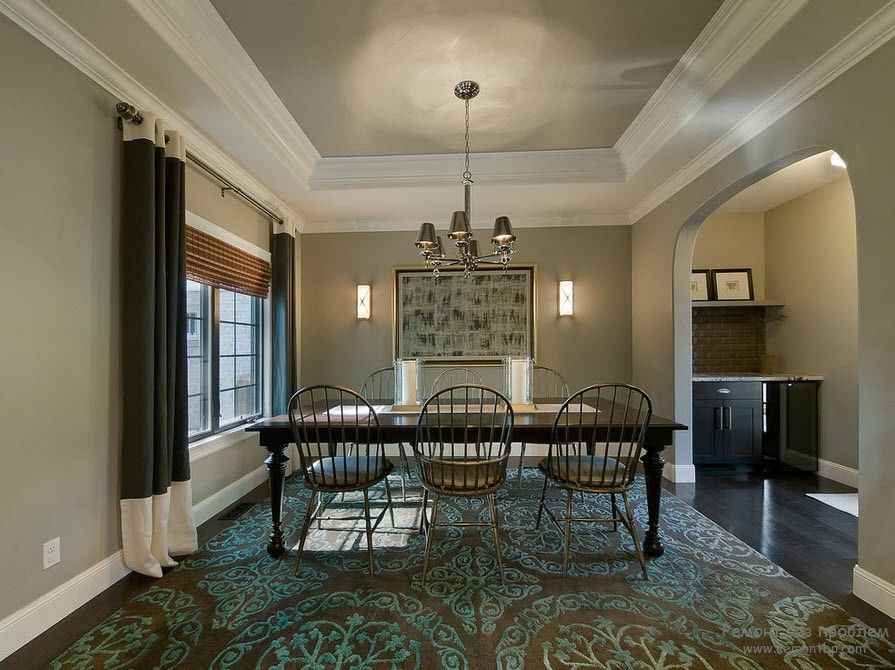 Nice large dining room or negotiations room in the private house
