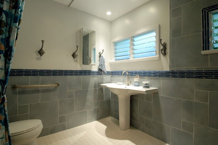 DIY Bathroom Remodel Ideas. Detailed Step by Step Instruction. Two colored Casual styled utility room