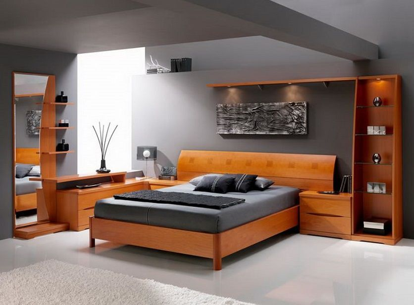 Noble black and brown color mix in the bedroom