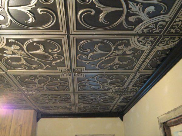 Expanded Polystyrene Tiles (Styrofoam tiles) Ceiling FInishing. Emnossed Classic black panels