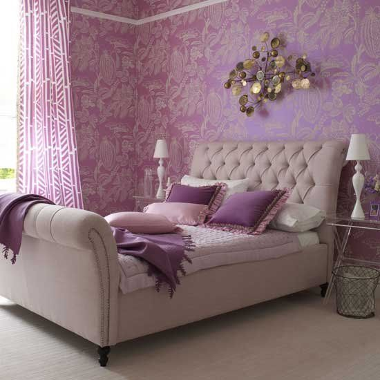 DIY Bedroom Repair: Step-by-Step Instruction. Royal lilac colored design