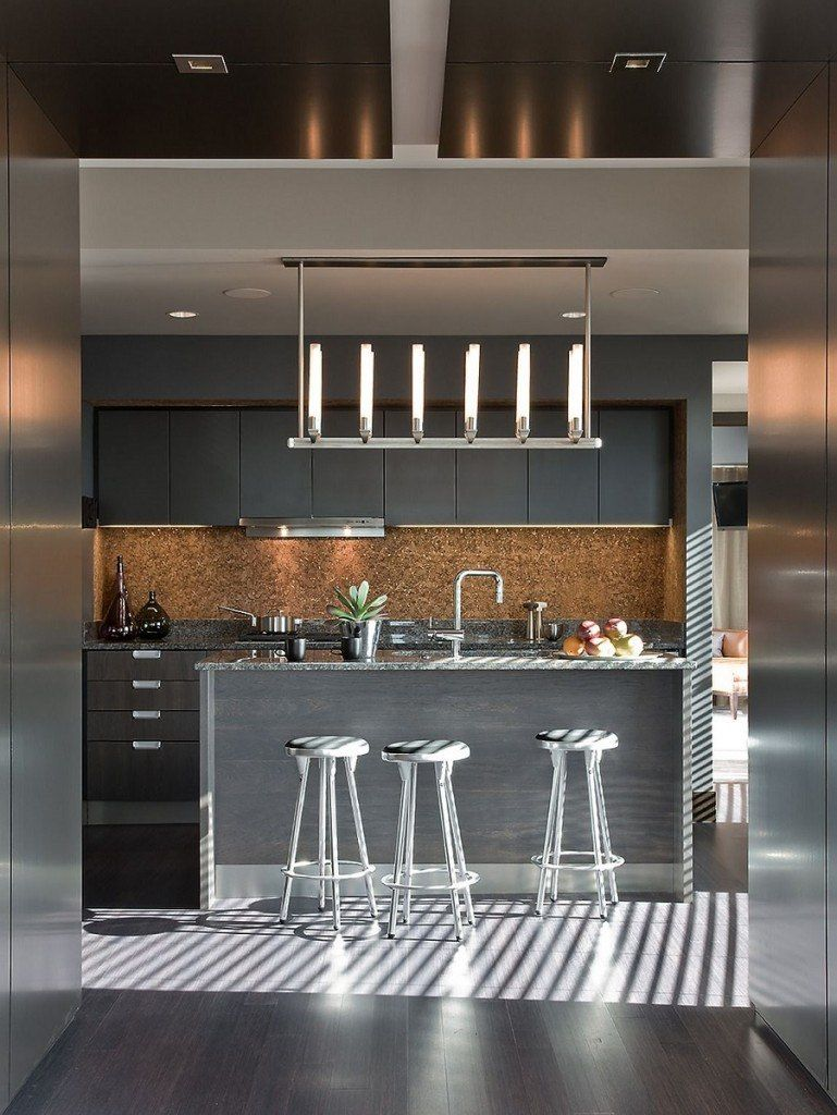 Cork Wallpaper Interior Finishing Advice & Photos. Steel surfaces for the modern hi-tech kitchen
