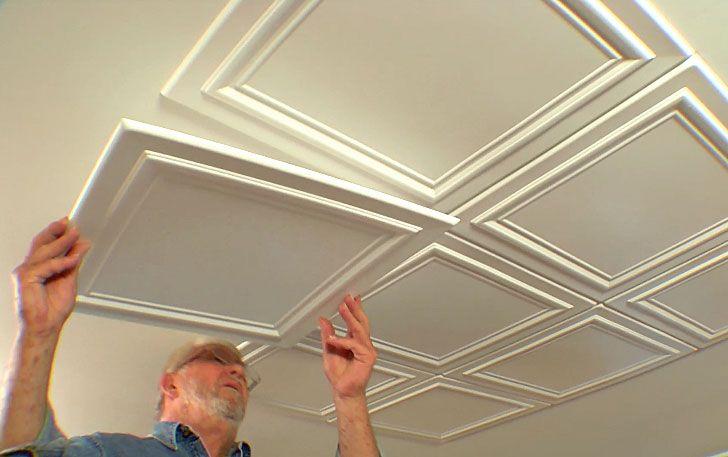 Expanded Polystyrene Tiles (Styrofoam tiles) Ceiling FInishing. Embossed uncovered plates