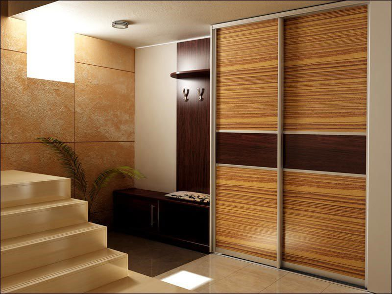 Bamboo structure imitating surface of the closet