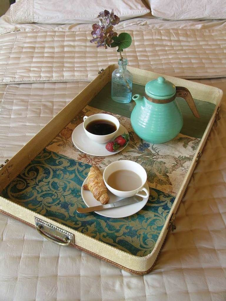Overbed Table (Bed Tray). Expanding Functionality Element in Modern Home. Oriental cimplicity in the bedroom
