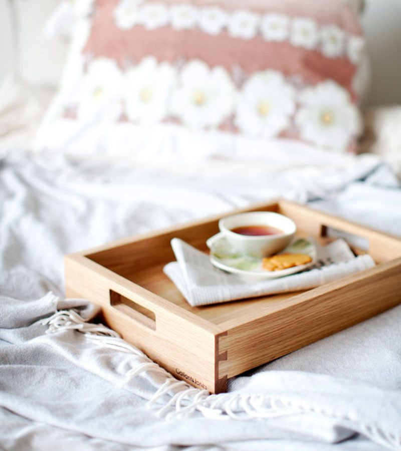 Simple designed wooden bed tray in the Classic design