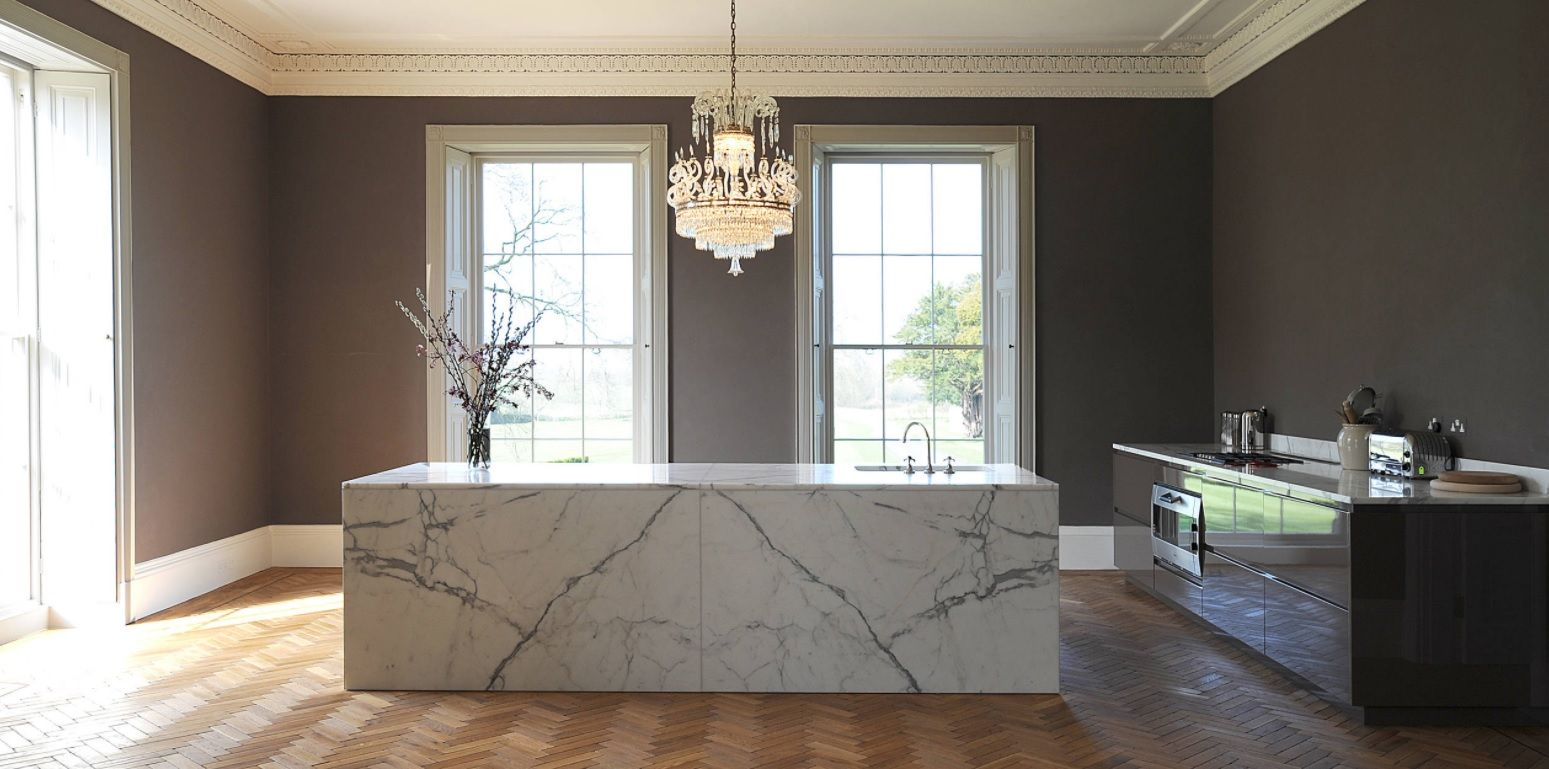 Bespoke Kitchen Interior Photos & Design Ideas. Marble island