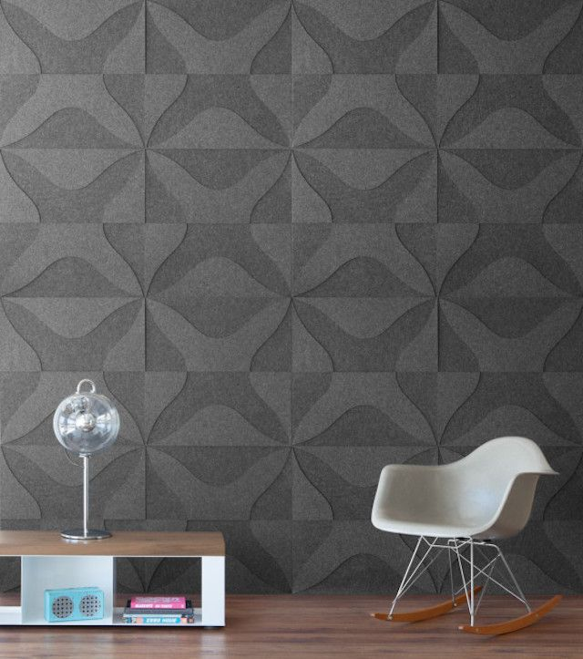 Cork Wallpaper Interior Finishing Advice & Photos. Structured gray drawing at the wall surface