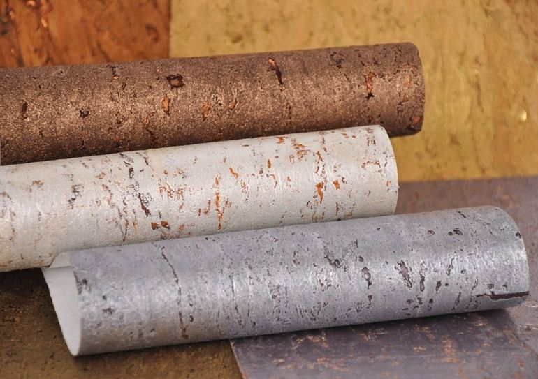 Cork Wallpaper Interior Finishing Advice & Photos. The rolls of material
