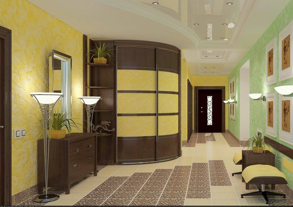Modern Closet Types & Variants for Hallway Interior with Photos. Arched wardrobe in the modern design