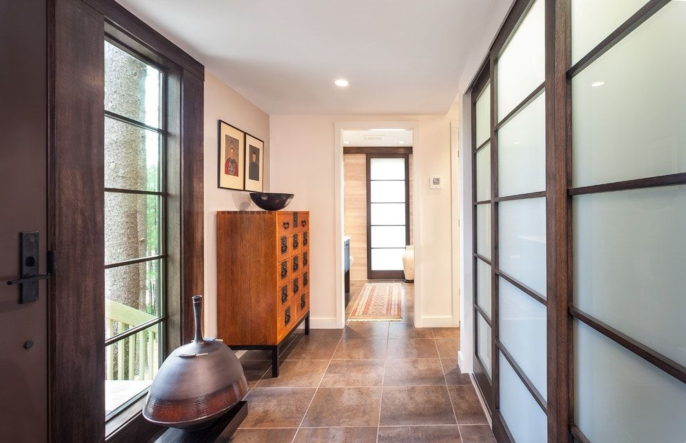 Japanese style in the form of patticed window and cabinet facade