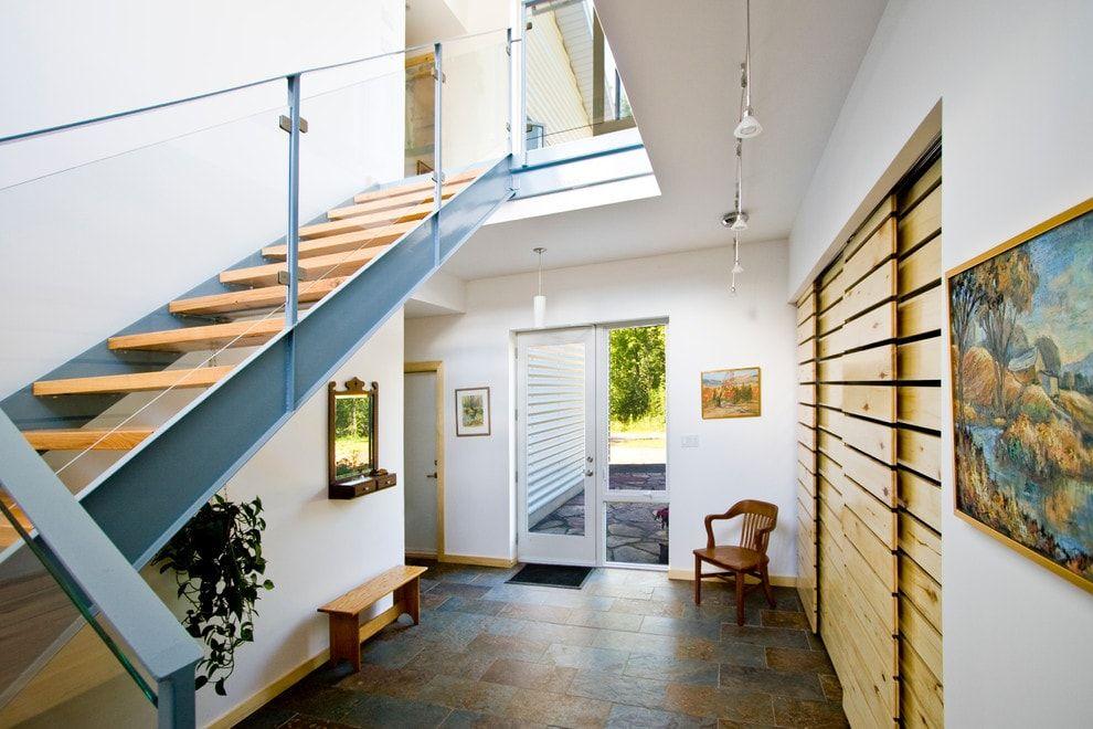 Modern Closet Types & Variants for Hallway Interior with Photos. Wooden planket door