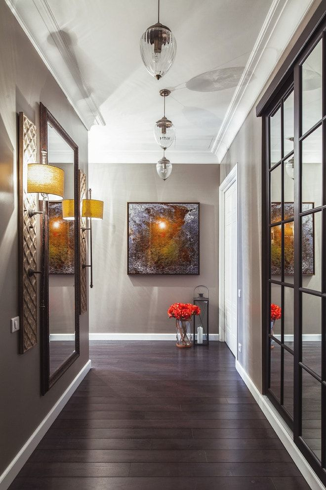 Modern Closet Types & Variants for Hallway Interior with Photos. Narrow space full of metal frames and glass