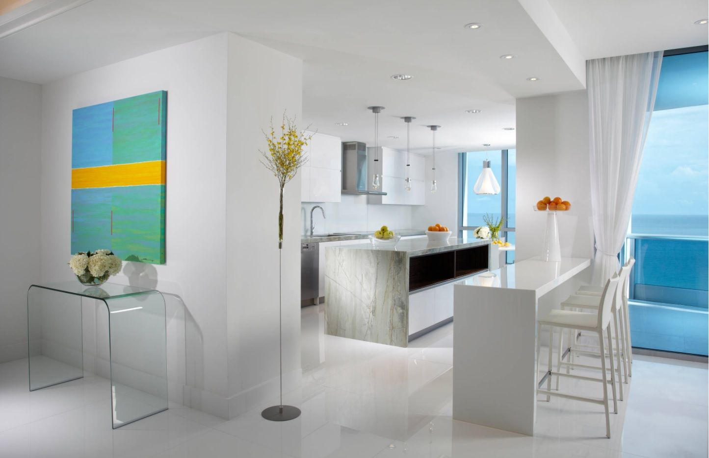 Zen Interior Design Concept for Your Home. White tranquil atmosphere