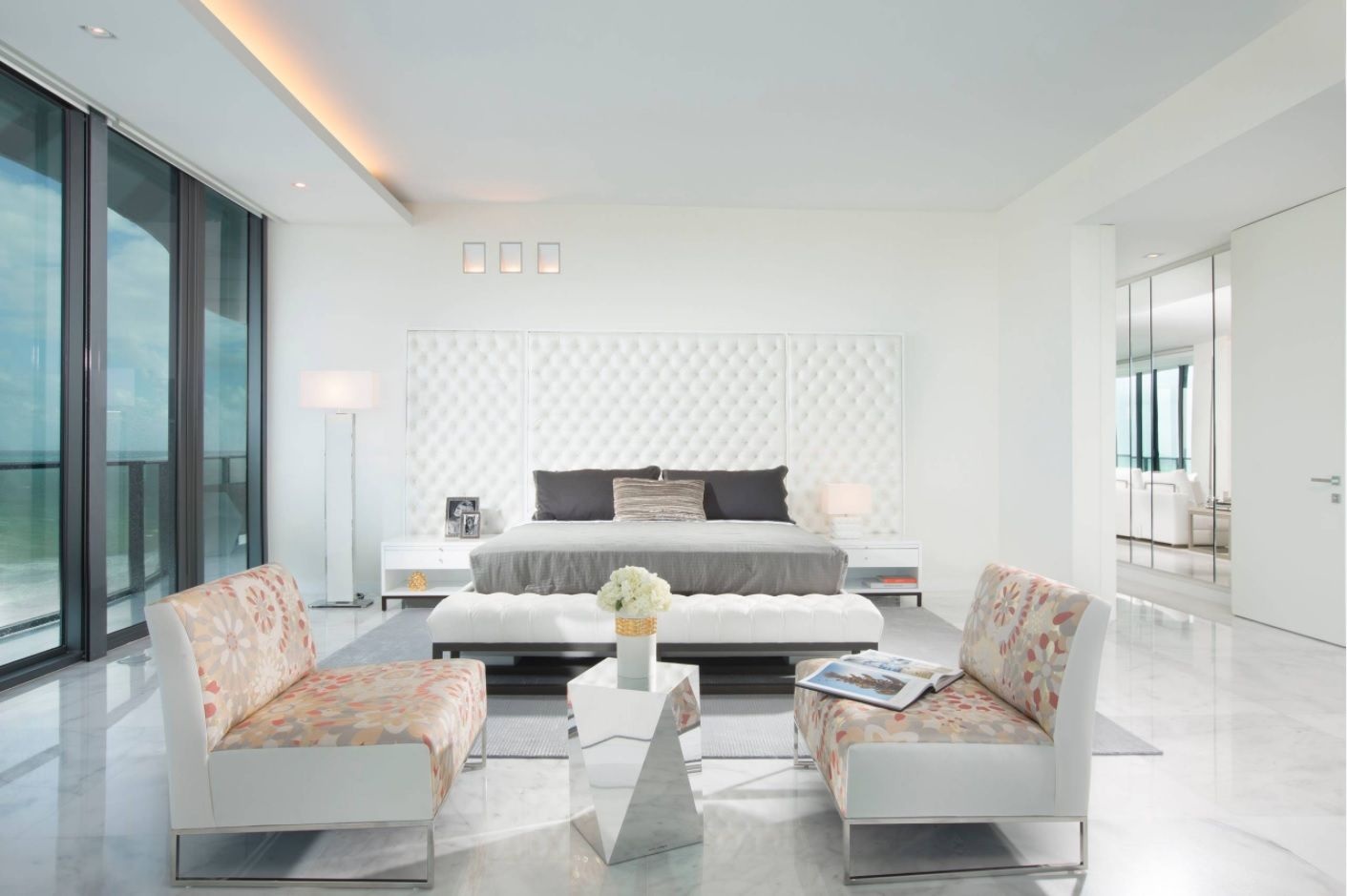 Zen Interior Design Concept for Your Home. Gray shades in the spacious room
