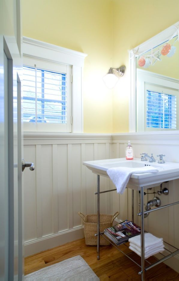 Bathroom with wainscoting