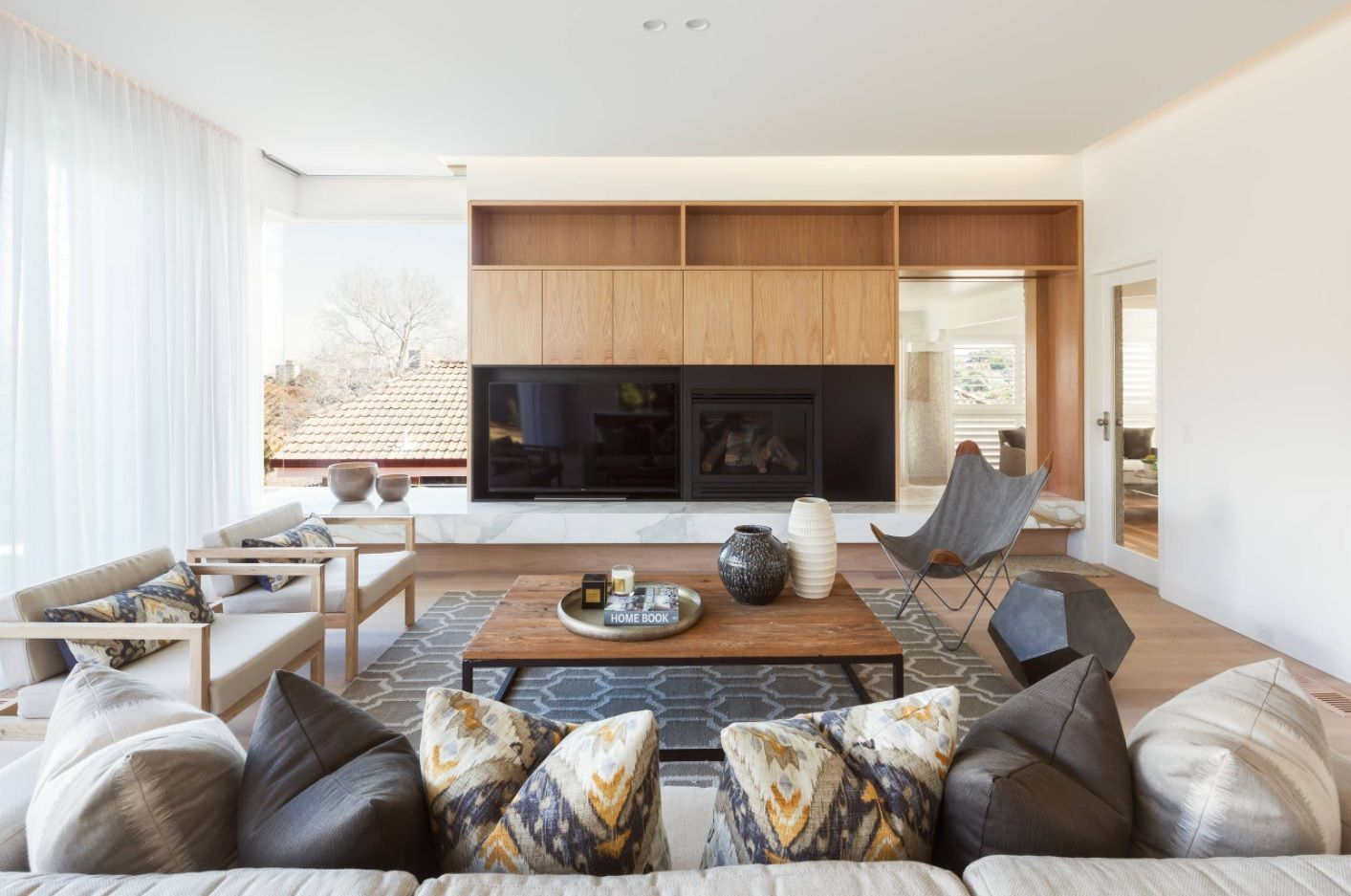 Absolutely unique approach for decorating of the living room with modular furniture