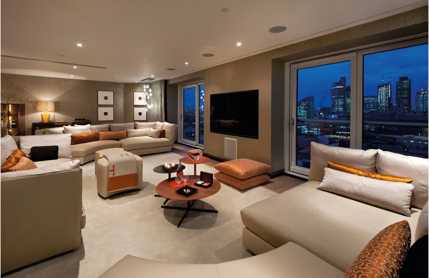 Solid gray colored Casual living room lounge