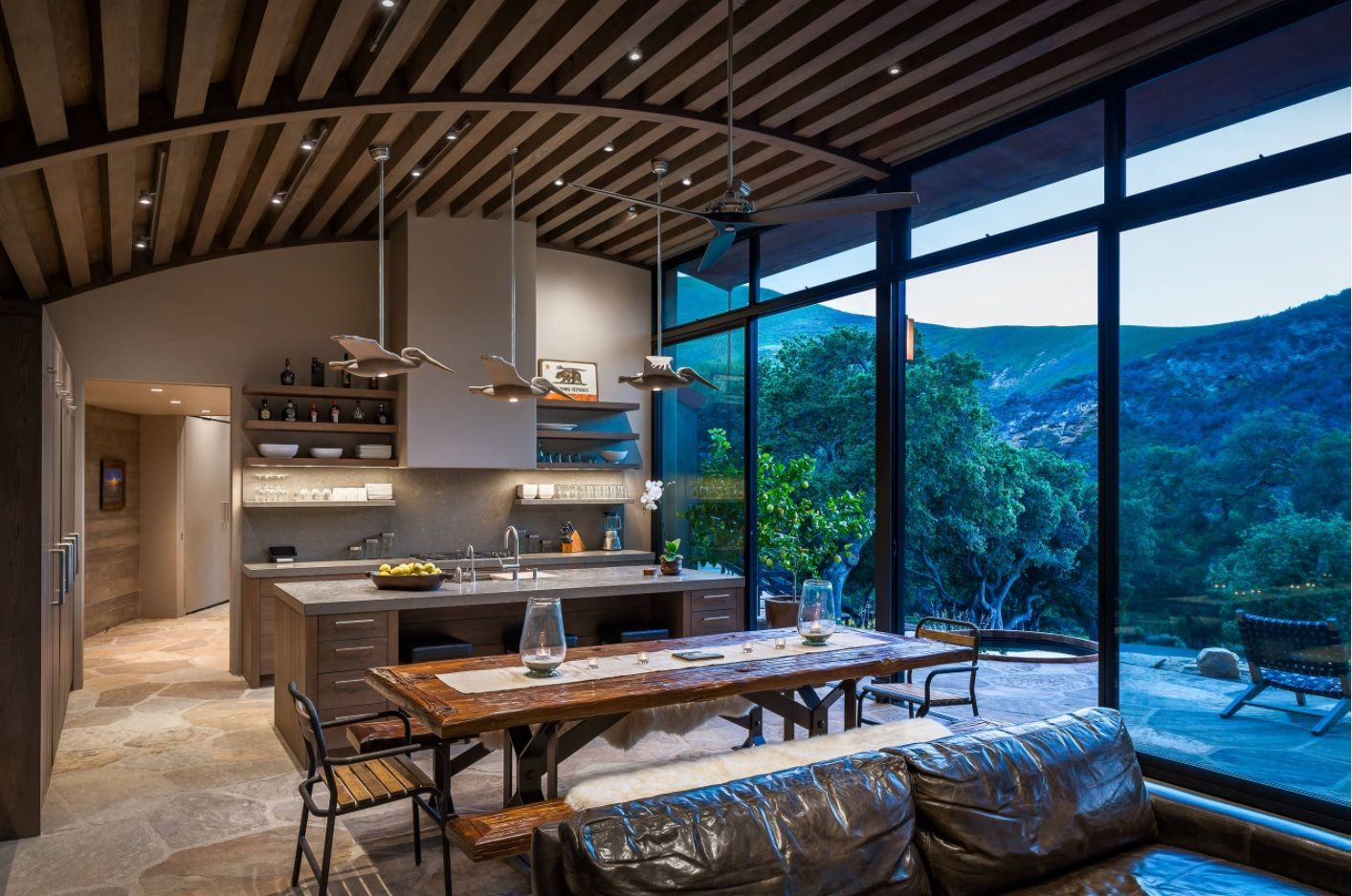 Open Kitchen Design & Interior Decoration. Unusual and adorable arrangement in the modern space