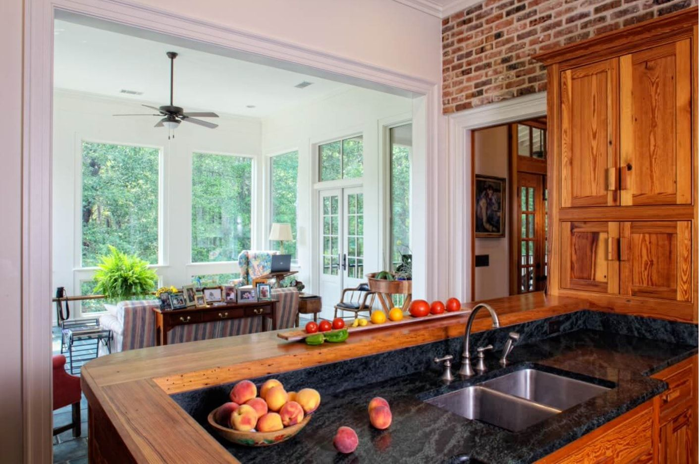 Kitchen joined with balcony in different interior decoration styles
