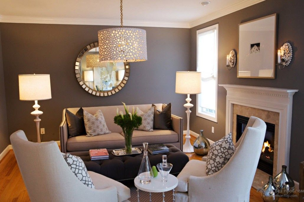 Wet asphalt accent wall paint in the Classic styled room