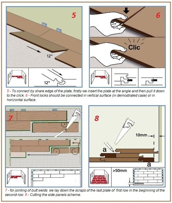 Fastening and gluing methods