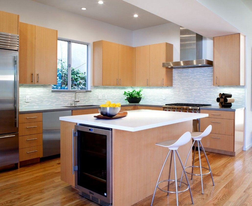 Peach and other pastel shades for modern successful kitchen design