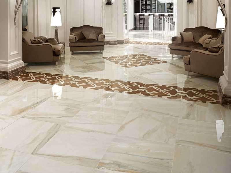 Marble and expensive materials for large chic living room