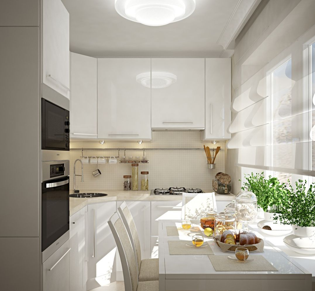 Ideally constructed fitted kitchen set