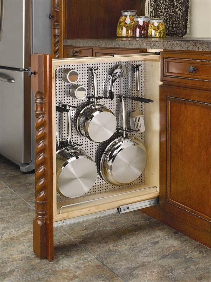 Nice idea to store your cookware in one cabinet