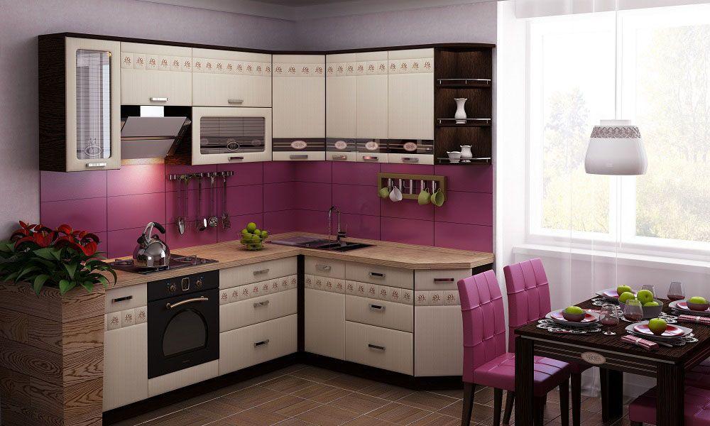Neat pink tint on the kitchen