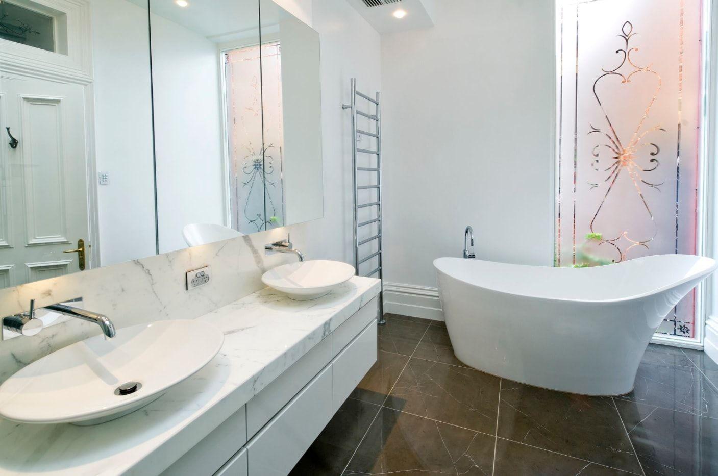 White interior with austere Scandinavian lightness