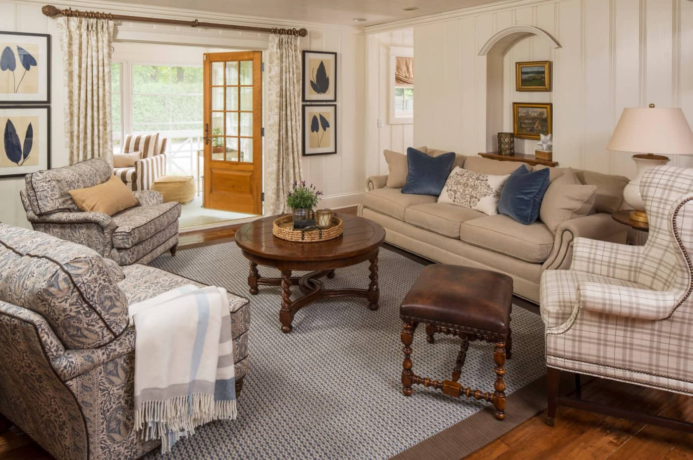 Classic styled studio layout of the private house's first floor